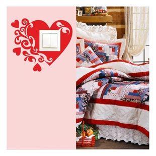 Obrázek Samolepící textilní ochrana vypínače - srdíčko č. 10