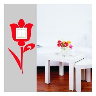 Obrázek Samolepící textilní ochrana vypínače - tulipán č. 10