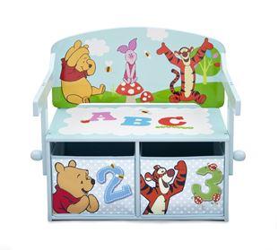 Obrázek Dětská lavice s úložným prostorem Medvídek Pú