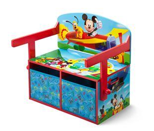 Obrázek Dětská lavice s úložným prostorem Myšák Mickey