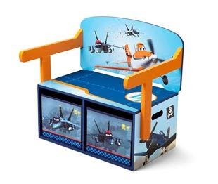 Obrázek Dětská lavice s úložným prostorem Letadla