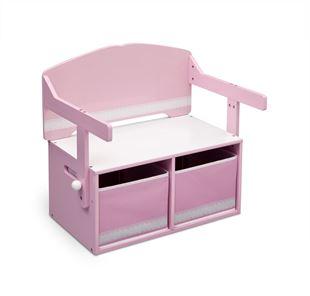 Obrázek Dětská lavice s úložným prostorem růžová