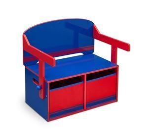 Obrázek Dětská lavice s úložným prostorem modro - červená