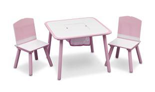 Obrázek Dětský stůl s židlemi růžový