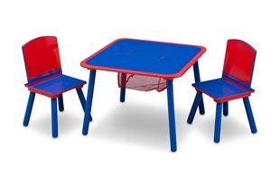 Obrázek Dětský stůl s židlemi modro-červený