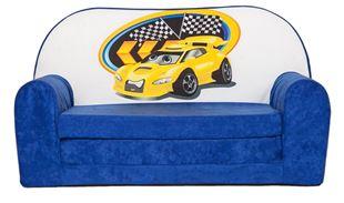 Obrázek Rozkládací dětská mini pohovka Závodní auto
