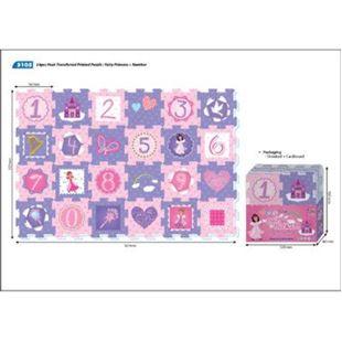 Obrázek Pěnové puzzle Princezny - čísla