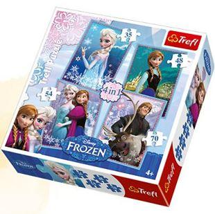 Obrázek Puzzle Frozen 4v1
