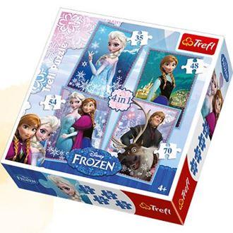 Obrázek z Puzzle Frozen 4v1
