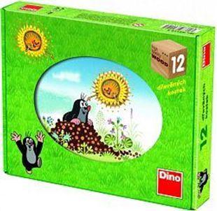 Obrázek Dřevěné obrázkové kostky - Kubus 12 Krtkův rok
