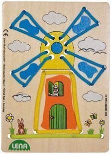 Obrázek Navlékací obrázek - Větrný mlýn