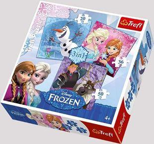 Obrázek Puzzle Frozen 3v1