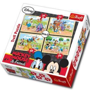 Obrázek Puzzle Mickey Mouse 4v1- na farmě
