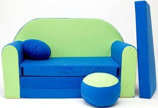 Obrázek Dětská pohovka Modro-zelená N+
