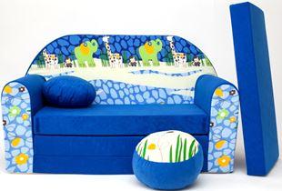 Obrázek Dětská pohovka Blue Jungle 2 C 16+