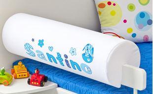 Obrázek Chránič na postel se jménem - Baby blue + jméno