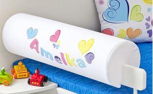 Obrázek Chránič na postel se jménem - Pastelová srdce + jméno
