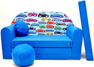 Obrázek Dětská pohovka Autíčka - Modrá C21+
