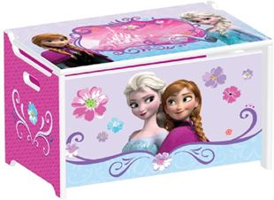 Obrázek Dětská dřevěná truhla na hračky Frozen