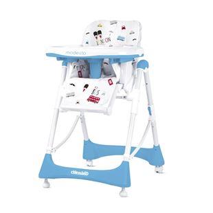 Obrázek Dětská jídelní židlička Modesto - Baby blue