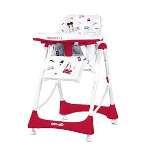 Obrázek Dětská jídelní židlička Modesto - Scarlet