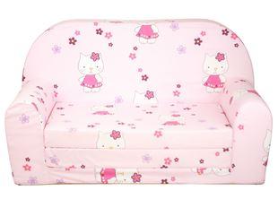 Obrázek Rozkládací dětská mini pohovka Hello Kitty