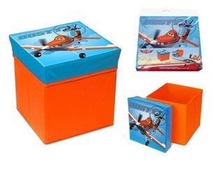 Obrázek Skládací úložný box - sedátko 2v1 Letadla