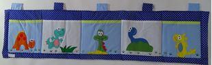 Obrázek Kapsář za postel velký 200x50 cm - Dinosauři