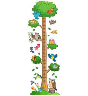 Obrázek Metr na stěnu - Ptáci na stromě