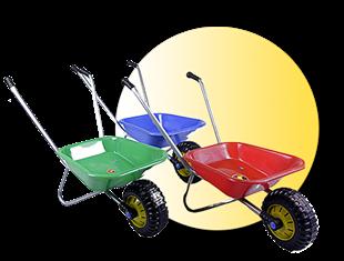 Obrázek Dětské zahradní kolečko kov-plast