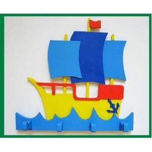 Obrázek Dřevěný věšáček - Loď