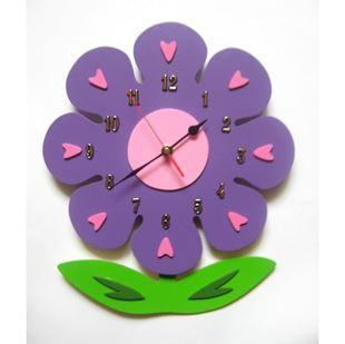 Obrázek Dětské dřevěné hodiny Květina - Mix barev