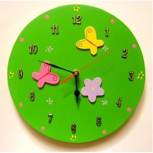 Obrázek Dětské dřevěné hodiny Louka