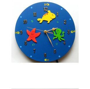 Obrázek Dětské dřevěné hodiny Oceán