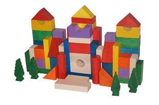 Obrázek Dřevěné kostky 50ks