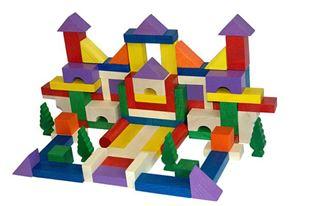 Obrázek Dřevěné kostky 100ks