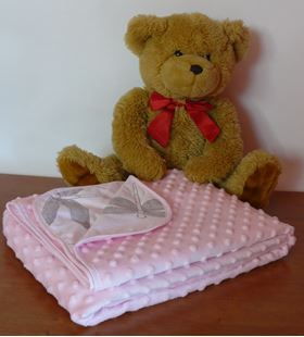 Obrázek Dětská deka MINKY 75 x 100cm -  růžová