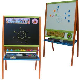 Obrázek Dětská magnetická tabule 3v1 barevná - výška 109 cm