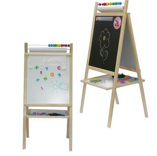 Obrázek Dětská magnetická tabule 4v1 přírodní - výška 98 cm