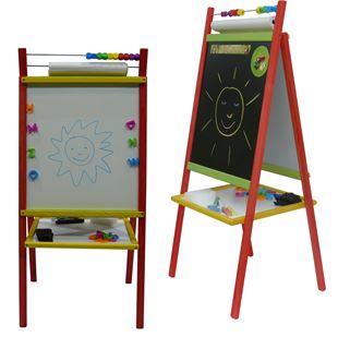 Obrázek Dětská magnetická tabule 4v1 barevná - výška 98 cm