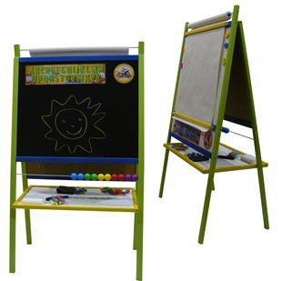 Obrázek Dětská magnetická tabule 4v1 barevná - výška 116 cm