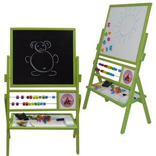 Obrázek Dětská otočná magnetická tabule 3v1 barevná - výška 89 cm