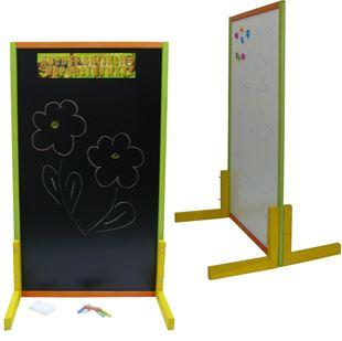 Obrázek Dětská magnetická tabule 2v1 barevná - výška 111 cm