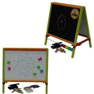 Obrázek Dětská magnetická tabule 3v1 barevná - výška 45 cm