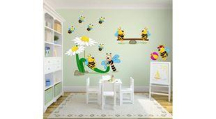 Obrázek Veselé včelky samolepka na zeď
