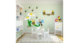 Obrázek z Veselé včelky samolepka na zeď