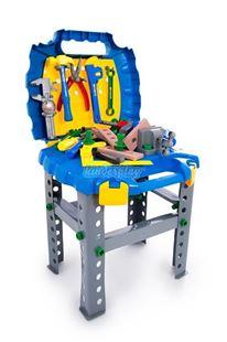 Obrázek Dětská dílna s nářadím v kufříku - modrá