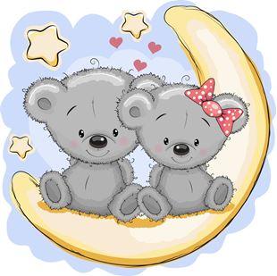 Obrázek Roztomilí medvídci samolepka na zeď