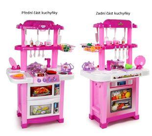 Obrázek Dětská oboustranná kuchyňka - růžová