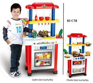 Obrázek Dětská oboustranná kuchyňka - červená